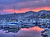 Marseille, Coucher de soleil sur le port de l&#039;Estaque